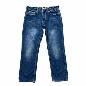 Flypaper Men's Straight Fit Dark Wash Jeans 32x30